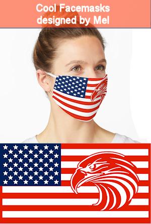 American Eagle Flag Facemask