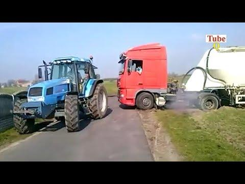 Super Tractors Pulling Trucks out Stuck In Mud In The World