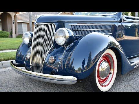 1936 Ford Cabriolet Retro Rod 239 Flathead Hopped Up V8 5 Speed #Video