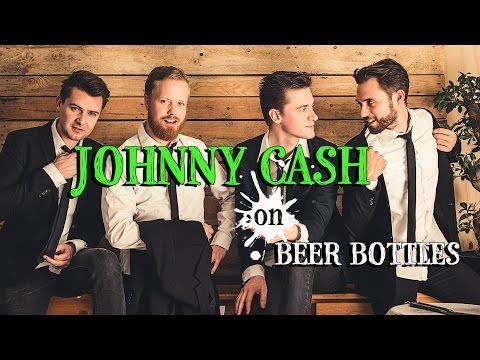 Johnny Cash On Beer Bottles
