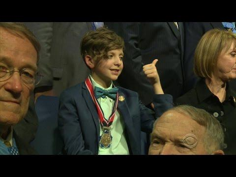 Ohio Boy Honored For Generosity To U.S. Military