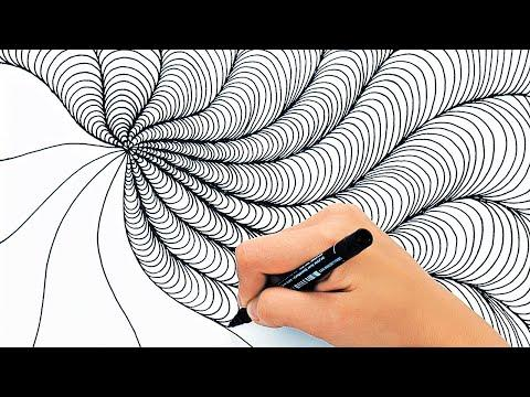 RELAXING DRAWING TECHNIQUES VIDEO || SATISFYING VIDEO FOR RELAXATION