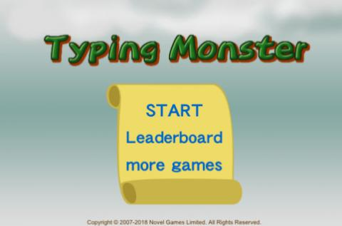 Free Game: Typing Monster