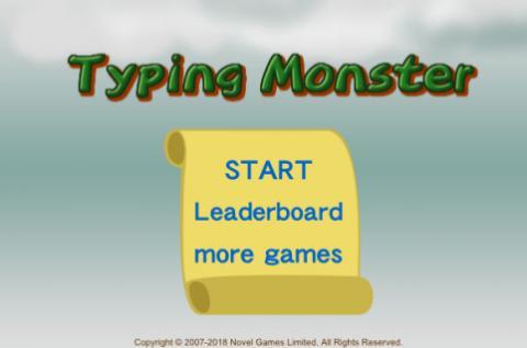 Free Game: Typing Monster