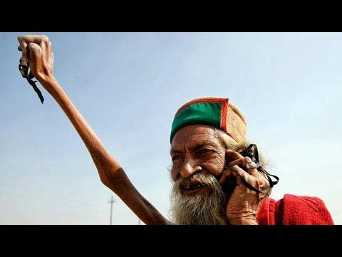 This Man Has Been Keeping His Arm Raised for Over 45 Years Video.