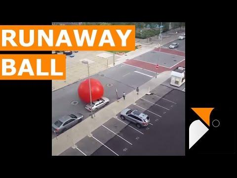 Giant Red Ball Escapes In Toledo