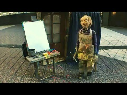 Marionette Puppet Painting Skills | Wonderful Street Performer Video