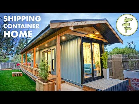 40ft Shipping Container Converted into Amazing Tiny House - Full Tour #Video