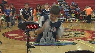 Competitive Cup Stacking (Texas Country Reporter)