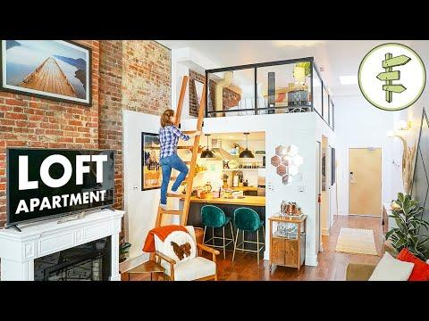 SMALL SPACE TOUR - 434 ft² Apartment with Loft Bedroom & Fantastic Interior Design #Video