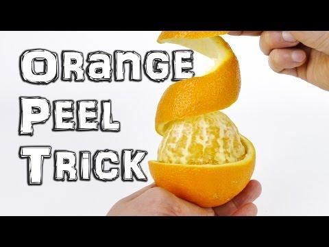 Orange Peel Trick - Life Hack