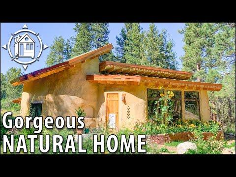 Family's Magical COB HOUSE made w/ Earth, Sand & Straw! Video.