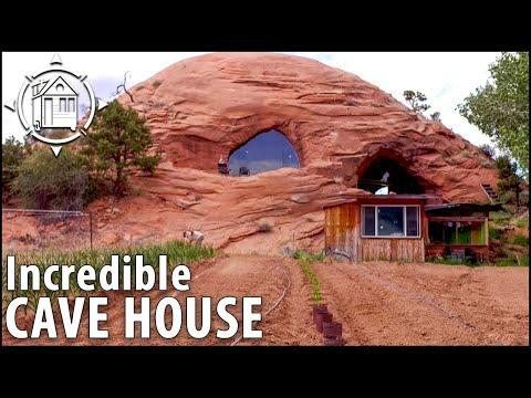 Modern CAVE HOUSE is Man's Life Long Dream Video - 5,700 sq ft!