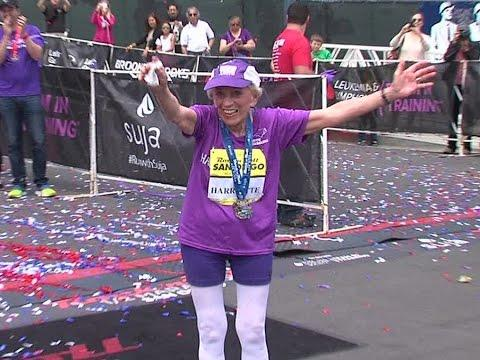 92 Year Old Woman Finishes Marathon