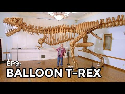 Life Size Balloon T-Rex Dinosaur - COOLEST THING I'VE EVER MADE EP9