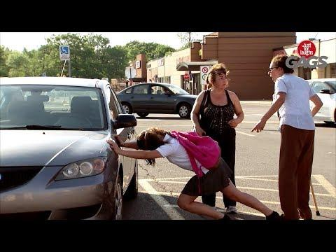Comedy - Teen with Super Strength Pushes Car