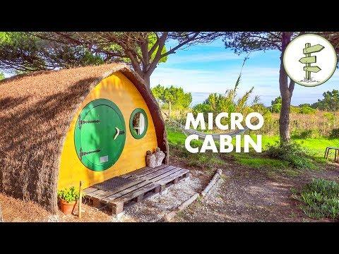 Extremely Tiny 100 ft² Off Grid Micro Cabin - Full Tour!