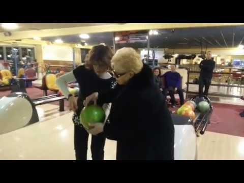 84 Yr Old Woman Scores Strike On Her First Bowl
