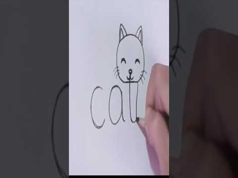 Turn Words Cat Into Cartoon Cat Video #Shorts