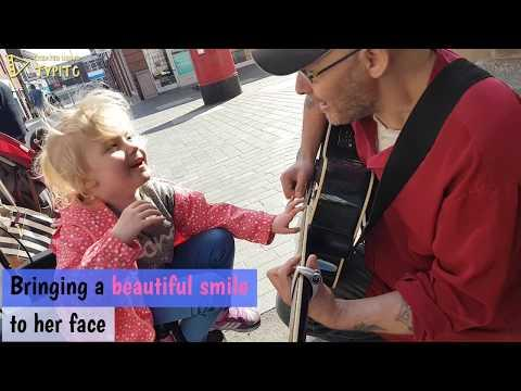 6 year old girl who is blind and autistic plays guitar for the first time #Video
