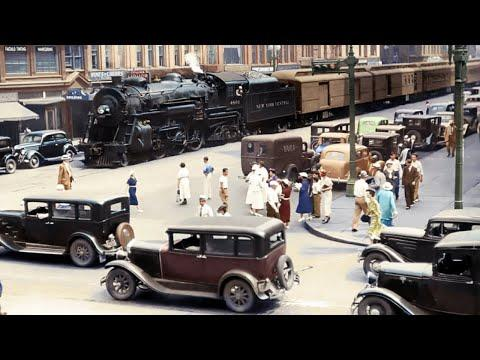 63 Rare Historic Colorized Photos of Cars & Locomotive in Color Taken Between 1910 - 1960  #Video
