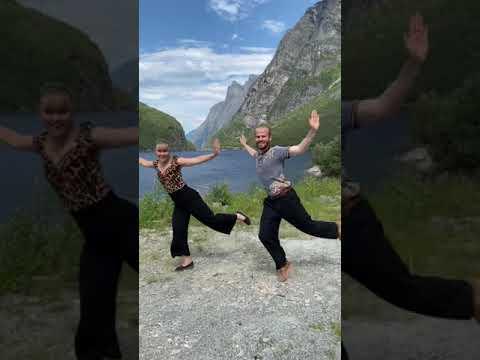 MESS AROUND DANCE ROUTINE - Sondre & Tanya #shorts #Video
