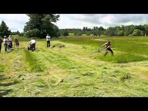 Man With Scythe Vs Mowing Machine