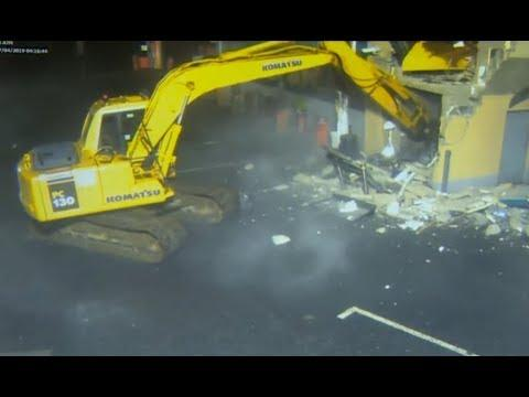 Criminals Steal ATM With An Excavator. Your Daily Dose Of Internet