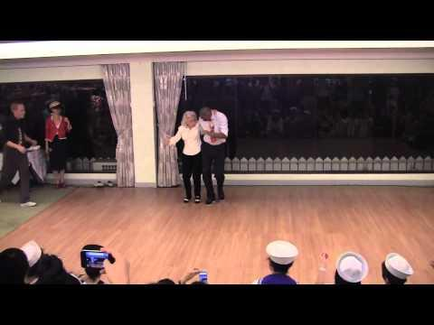 Outstanding! Jean Veloz's 90th Birthday Dance With 3 Guys!