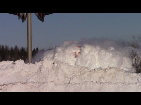 EPIC CATCH!!! Train Plowing Through SNOW!