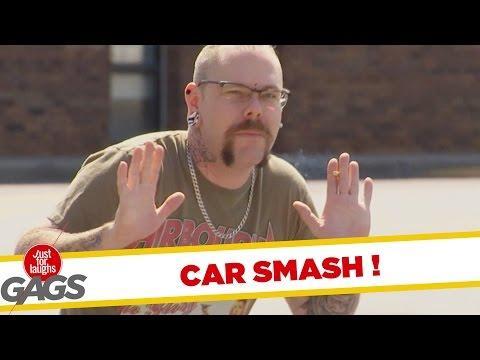 Cart Smashes Into Cop Car Prank