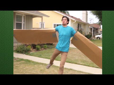 Cardboard Wings Trick