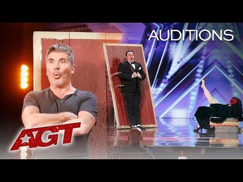 Dangerous! Simon Cowell Joins Nick & Lindsay's Knife Throwing Act! - America's Got Talent 2019