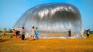 RELEASING A HUGE BALLOON TO A HEIGHT OF 10 THOUSAND METERS!