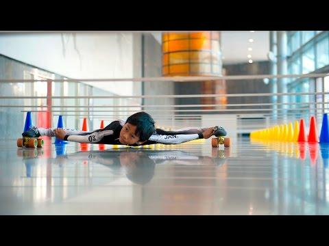7-year-old Sets New Limbo Skating World Record