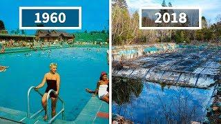 THIS PHOTOGRAPHER FINDS PICTURES OF RESORTS IN THE 60'S TO COMPARE THEM WITH HOW THEY LOOK NOW