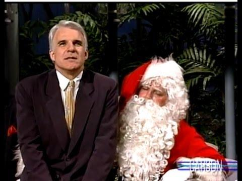 Steve Martin Is Mean To Santa On Johnny Carson's Tonight Show 1988