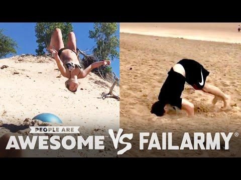 Beach Backflips, Squad Tricks & More | People Are Awesome Vs. FailArmy