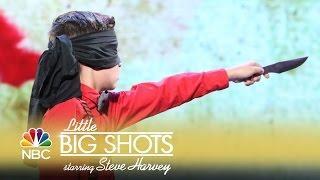 Little Big Shots - Knife-Throwing Kids (Episode Highlight)