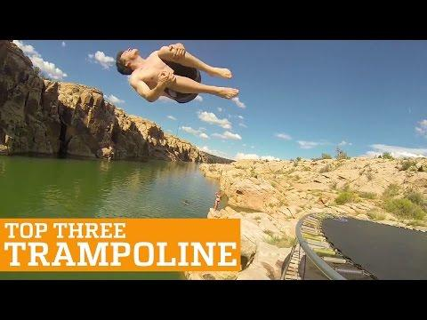 TOP THREE TRAMPOLINE TRICKS | PEOPLE ARE AWESOME