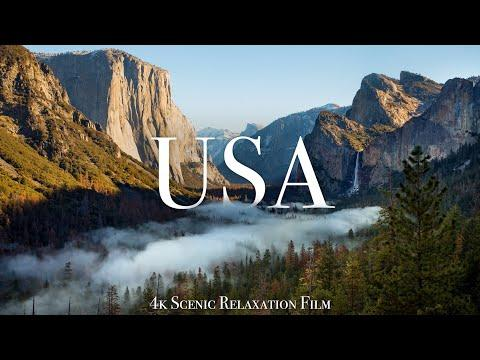 The USA 4K - Scenic Relaxation Film With Calming Music #Video