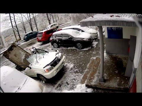 Concrete Block Crushes Car. Your Daily Dose Of Internet Video.