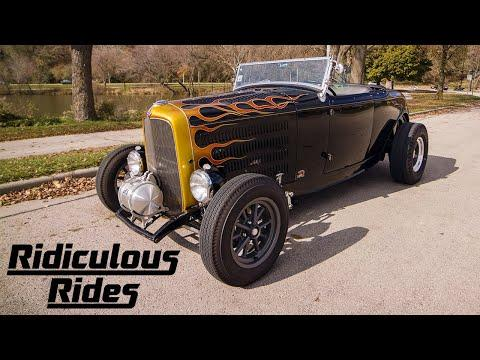 1932 'Dragon' Hot Rod Reaches Speeds Of 140mph | RIDICULOUS RIDES #Video