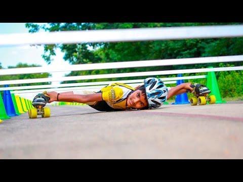 Record Breaking Backwards Limbo Skater
