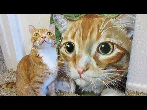 Speed Painting - Marmalade The Cat