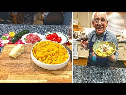 Rigatoni with Pork Zucchini and Tomatoes Recipe
