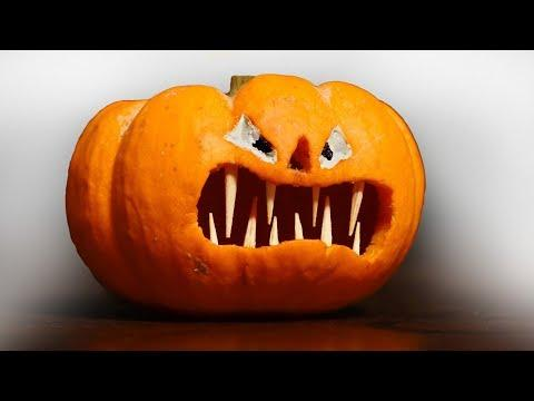 How to Carve a Halloween Pumpkin with Fangs!