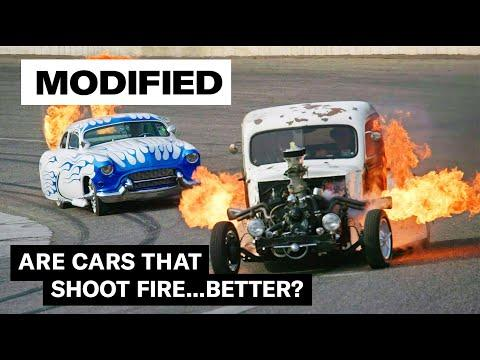 Flame-throwing hot rods | MODIFIED  #Video