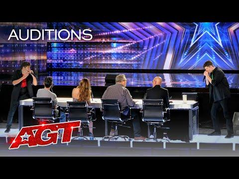 Brothers Gage Surprise the Judges With Amazing Harmonica Performance Video - AGT 2020