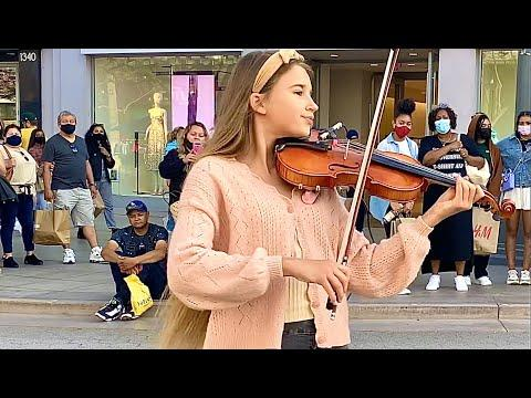 How BEAUTIFUL is she playing violin   7 years - Lukas Graham   Cover by Karolina Protsenko #Video